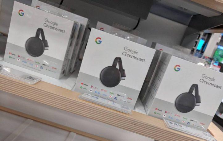 google chromecast unpacked boxs